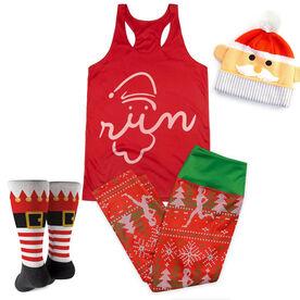 Santa Run Face Running Outfit