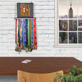 BibFOLIO+™ Race Bib and Medal Display - Will Run For Beer