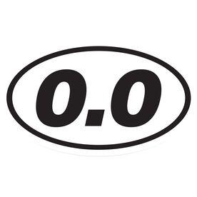 0.0 Car Magnet - White