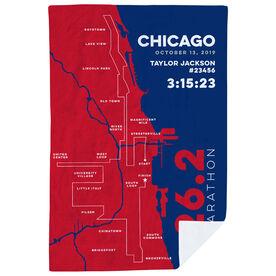Running Premium Blanket - Personalized Chicago Map