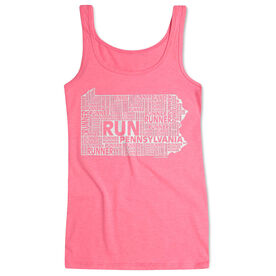 Women's Athletic Tank Top Pennsylvania State Runner