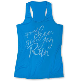 Women's Performance Tank Top Spread Cheer Give Joy Run