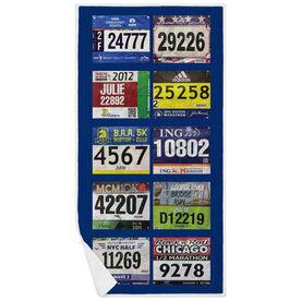 Running Premium Beach Towel - Your Race Bibs