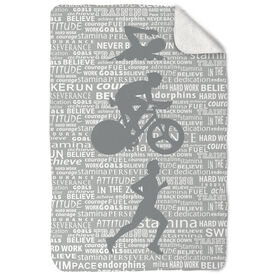 Triathlon Sherpa Fleece Blanket Swim Bike Run Inspiration Male