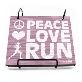 BibFOLIO® Race Bib Album - Peace Love Run Rustic