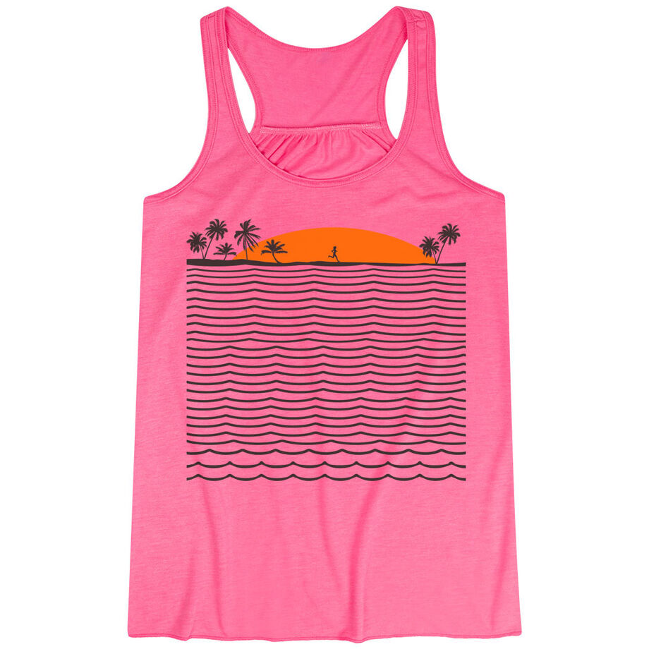 Running Flowy Racerback Tank Top - Chasing Sunsets