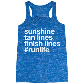 Flowy Racerback Tank Top - Sunshine Tan Lines Finish Lines