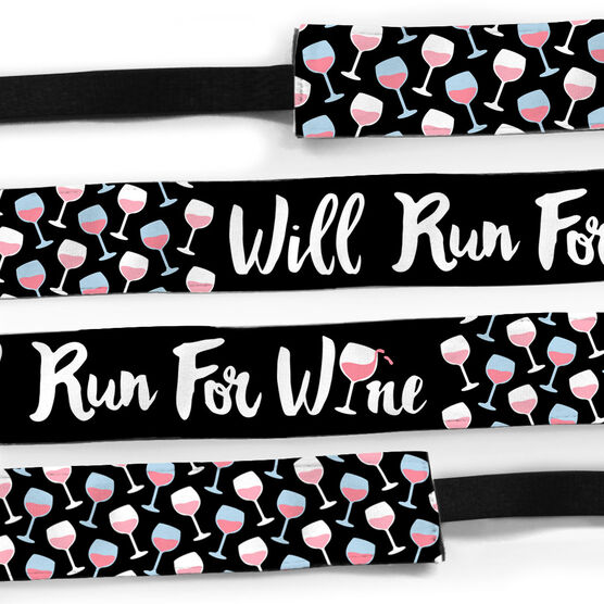 Running Julibands No-Slip Headbands - Will Run For Wine
