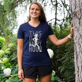 Women's Running Short Sleeve Tech Tee This Is My Happy Hour