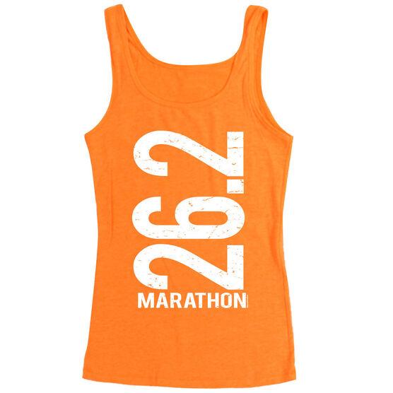 Women's Athletic Tank Top 26.2 Marathon Vertical