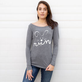 Women's Runner Scoop Neck Long Sleeve Tee - Hoppy Run