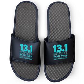 Running Navy Slide Sandals - 13.1 Math Miles