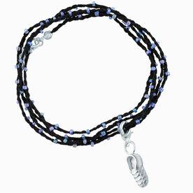 Running Beaded Wrap Bracelet - Mini Shoe Charm
