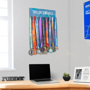 Running Hooked on Medals Hanger - Customize Me
