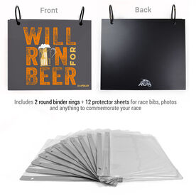 BibFOLIO® Race Bib Album - Will Run For Beer
