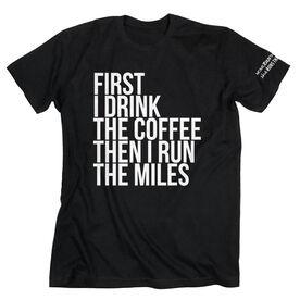 Running Short Sleeve T-Shirt - Then I Run The Miles MRTT
