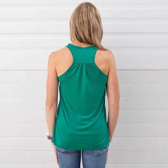 Flowy Racerback Tank Top - Then I Eat The Donuts