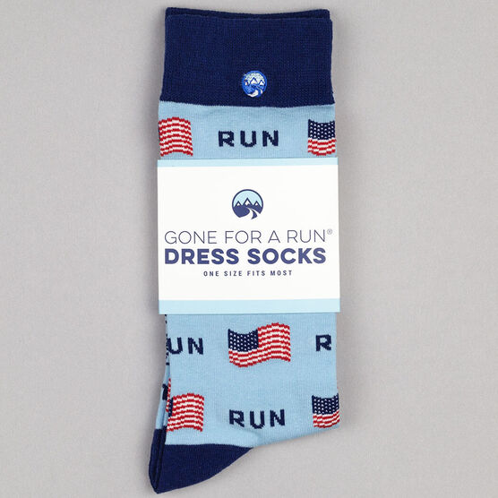 Men's Running Dress Socks - Running the USA