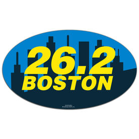 Boston 26.2 Oval Car Magnet