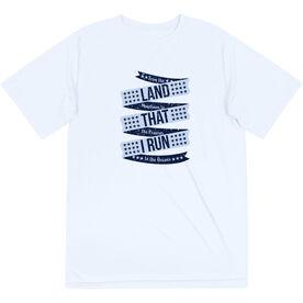 Men's Running Short Sleeve Tech Tee - Land That I Run