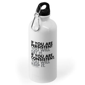 Running 20 oz. Stainless Steel Water Bottle - If You Are Persistent
