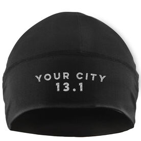 Run Technology Beanie Performance Hat - 13.1 Your City
