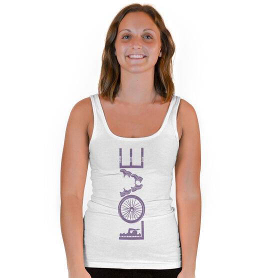 Triathlon Vintage Fitted Tank Top - Love To Tri
