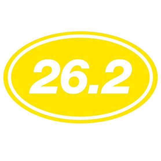 26.2 Oval Running Vinyl Decal