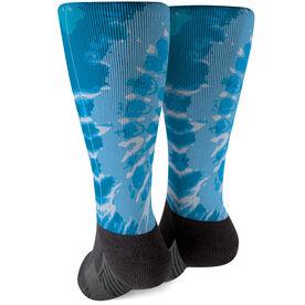 Printed Mid-Calf Socks - Tie-Dye Swirl