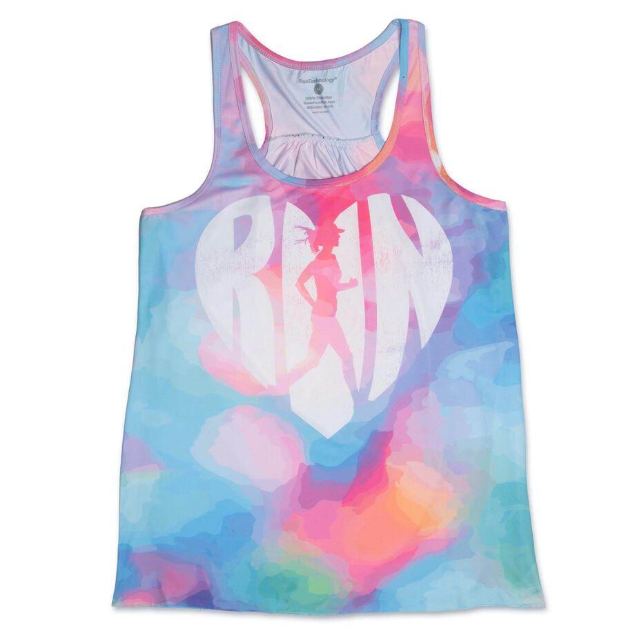 RunTechnology® Performance Tank Top - Love The Run Watercolor