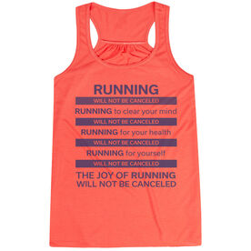 Flowy Racerback Tank Top - The Joy of Running Will Not Be Canceled ($5 Donated to the American Red Cross)
