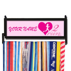 RunnersWALL Personalized Heart 2 Run Medal Display