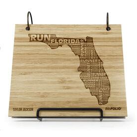 Engraved Bamboo Wood BibFOLIO Florida State Runner