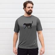 Men's Running Short Sleeve Tech Tee - Rex the Running Dog