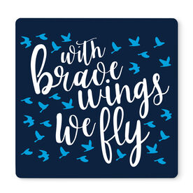 """Running 12"""" X 12"""" Removable Wall Tile - With Brave Wings We Fly"""