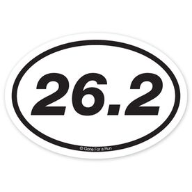 26.2 Marathon Decal (Black/White)