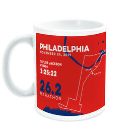 Running Coffee Mug - Philadelphia 26.2 Route