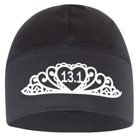 Run Technology Beanie Performance Hat - Tiara 13.1 (White Lettering)