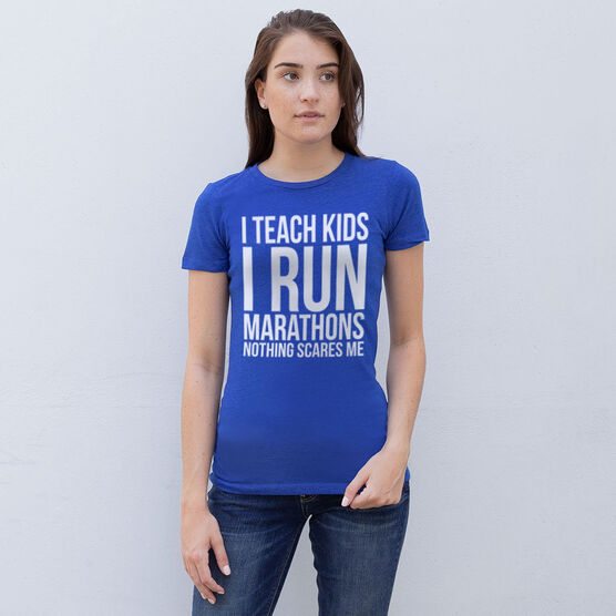 Women's Everyday Runners Tee - I Teach Kids I Run Marathons