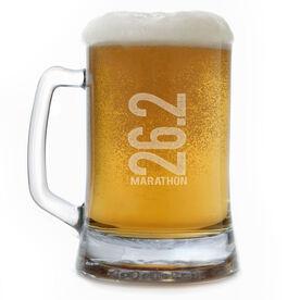 Running 15 oz Beer Mug 26.2 Marathon Vertical