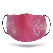 Running Face Mask - Run Heart Tie-Dye
