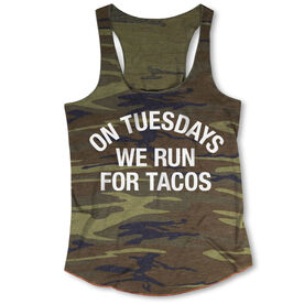 Running Camouflage Racerback Tank Top - On Tuesdays We Run For Tacos