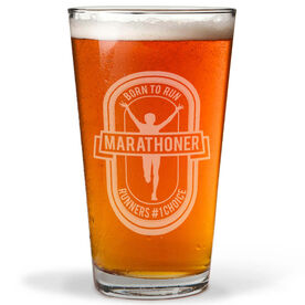 Marathoner Beer 16 oz Beer Pint Glass