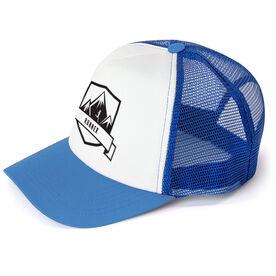Running Trucker Hat Run Wild Badge With Distances Female Silhouette