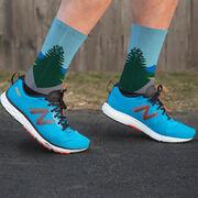 Running Printed Mid-Calf Socks - The Road
