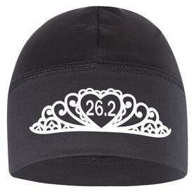 Run Technology Beanie Performance Hat - Tiara 26.2 (White Lettering)