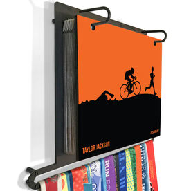 BibFOLIO Plus Race Bib and Medal Display Triathlon