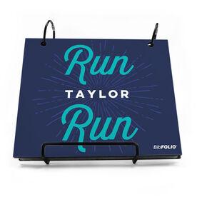 BibFOLIO® Race Bib Album - Run Your Name Run Artist Style