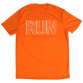 Men's Running Short Sleeve Tech Tee Run With Inspiration