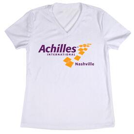 Women's Running Short Sleeve Tech Tee - Achilles International-Nashville Logo